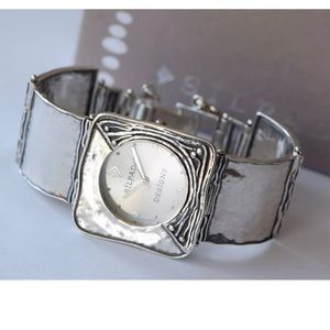 Silpada T1372 Square Link Sterling Silver Watch
